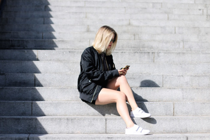 Outfit_Schwarz_Bomberjacke_Bomber_Stripes_Streifen_Sophiehearts5