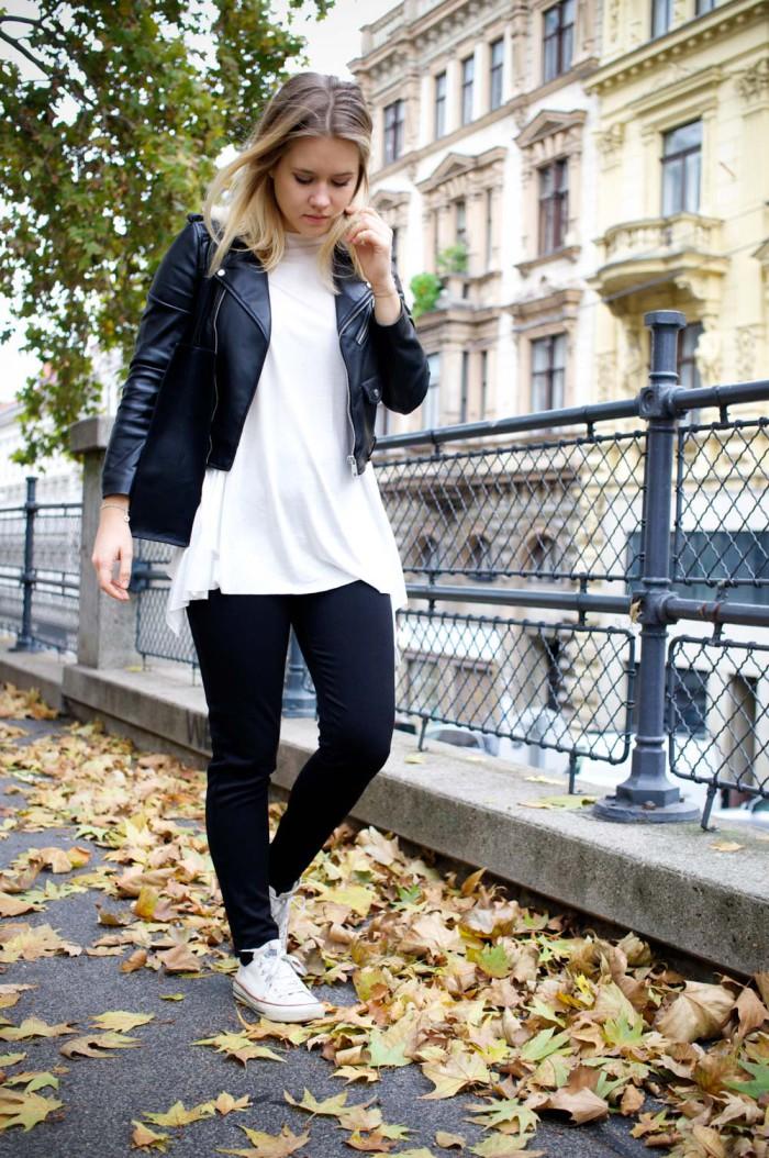 Terranova_Outfit_Herbst_Blackandwhite_Lederjacke_Sophiehearts (4 von 12)