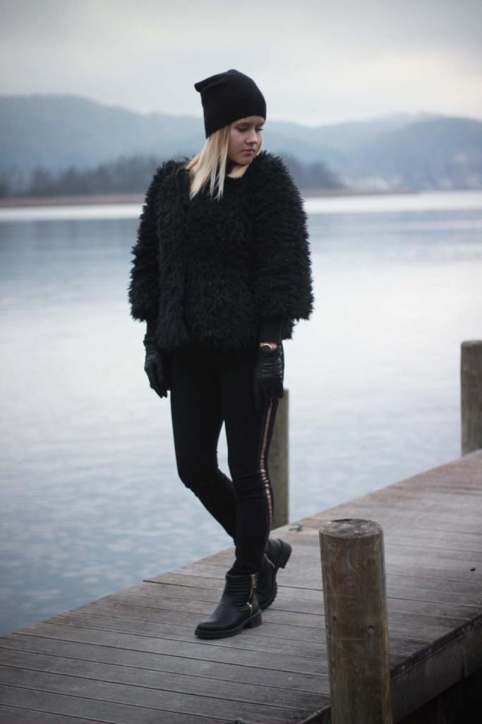 All Black Everything Schwarze Colmar Jacke Tezenis Rita Ora Collection Cluse Watch (6 von 13)
