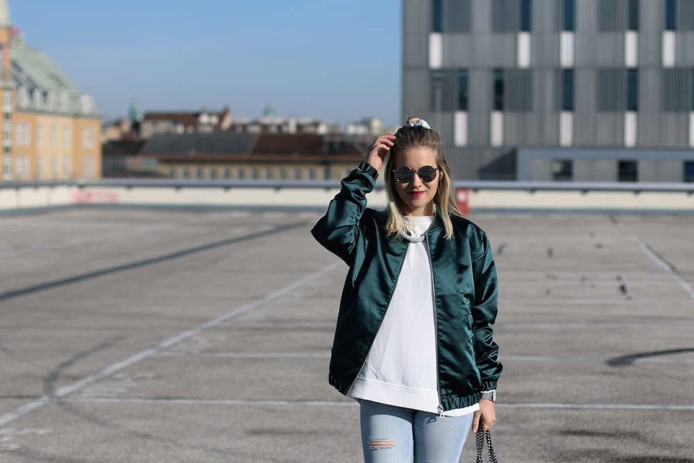 Bomberjacke Outfit Fashion Outfitpost Fashion Post Deichmann Adidas Originals Sophiehearts