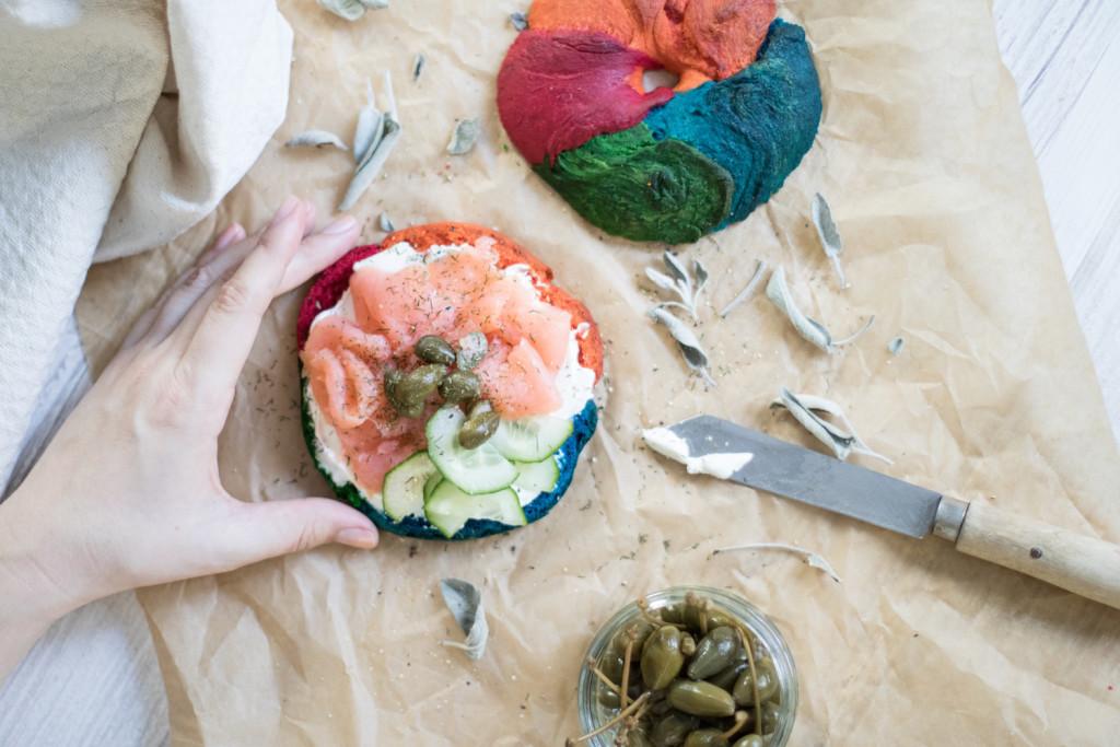 Rainbow-Bagels-Rezept-Food-Foodblog-Fashionblog-Wien.Sophiehearts12