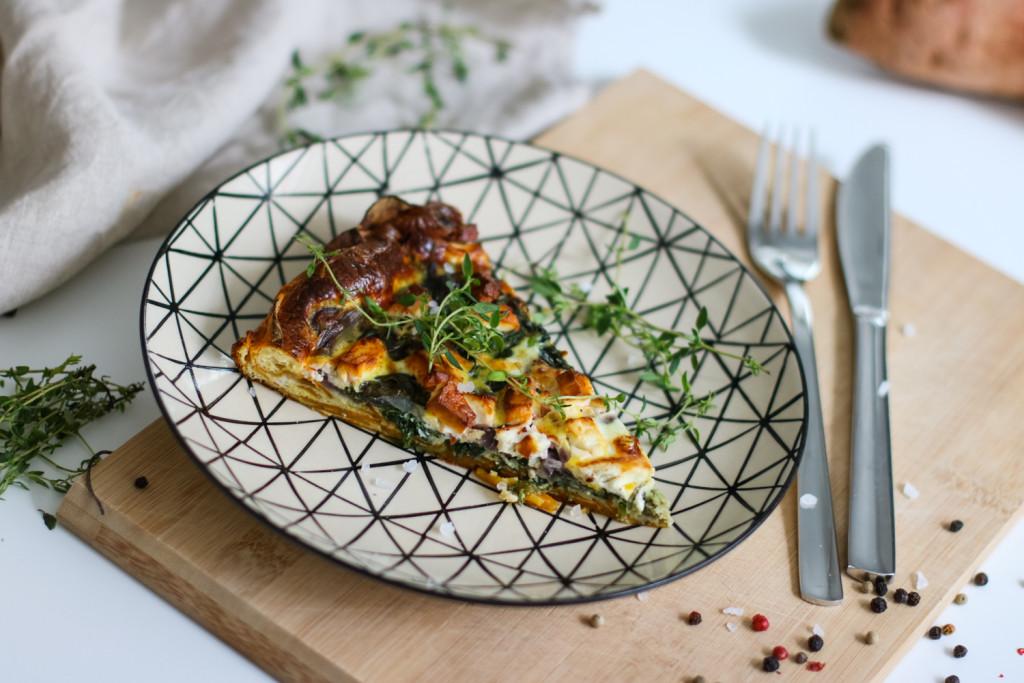 Glutenfreie Tarte mit Spinat und Schafkaese Rezept gesund Foodblog Fashionblog Wien Vienna Sophiehearts12