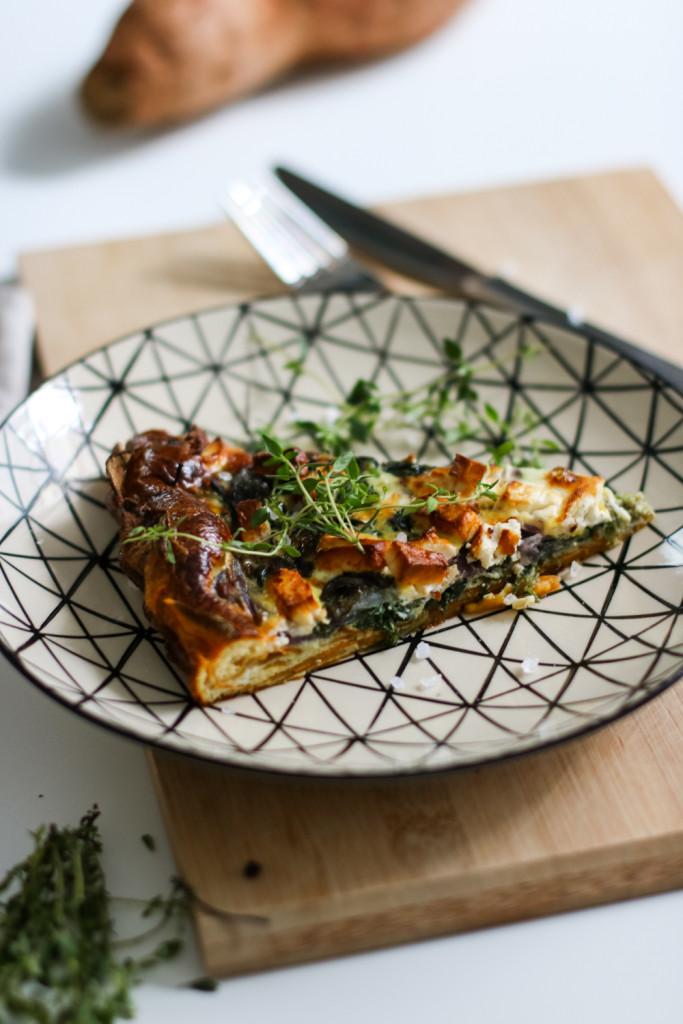 Glutenfreie Tarte mit Spinat und Schafkaese Rezept gesund Foodblog Fashionblog Wien Vienna Sophiehearts13