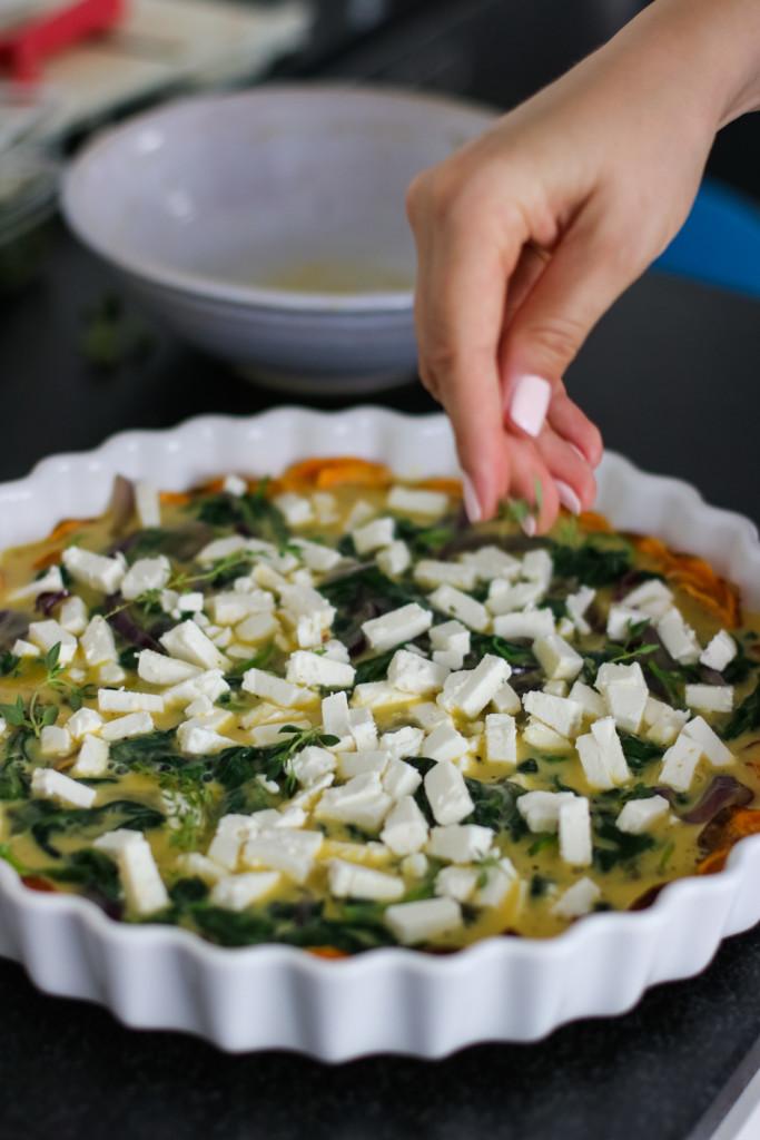 Glutenfreie Tarte mit Spinat und Schafkaese Rezept gesund Foodblog Fashionblog Wien Vienna Sophiehearts3