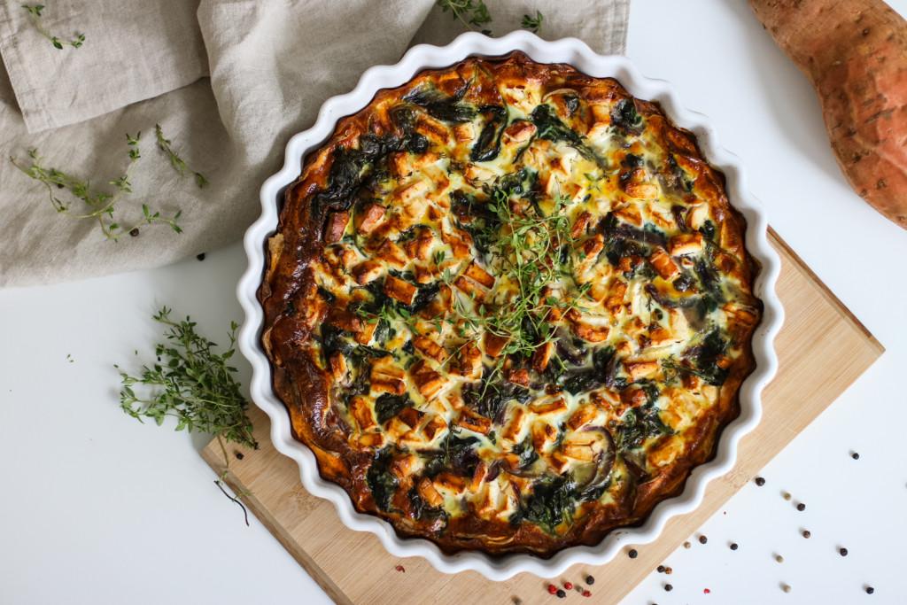 Glutenfreie Tarte mit Spinat und Schafkaese Rezept gesund Foodblog Fashionblog Wien Vienna Sophiehearts6