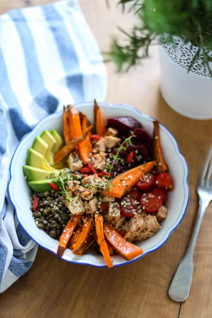 Lunch Bowl Rezept gesund Healthy Avocado Sophiehearts Fashionblog Foodblog Wien Vienna (1 von 5)