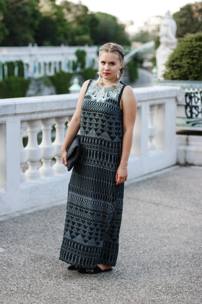 Maxikleid Boho Style Outfit Fashionblog Foodblog Vienna Wien Sophihearts (2 von 11)