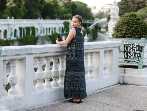 Maxikleid Boho Style Outfit Fashionblog Foodblog Vienna Wien Sophihearts (6 von 11)